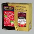 Dárková sada Malinový čaj + malinový džem, 380 g