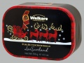 Máslové sušenky Walkers v plechové dóze se Santou, 130 g