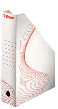 Stojan na časopisy Esselte A4, bílý, 8 cm