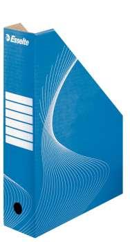 Stojan na časopisy Esselte A4, modrý, 8 cm