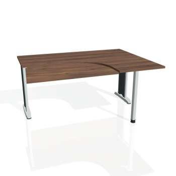Psací stůl Hobis CROSS CE 60 levý, ořech/kov