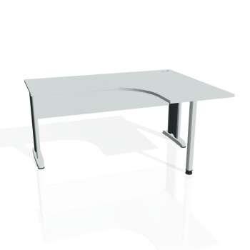 Psací stůl Hobis CROSS CE 60 levý, šedá/kov