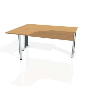 Psací stůl Hobis CROSS CE 60 pravý, buk/kov
