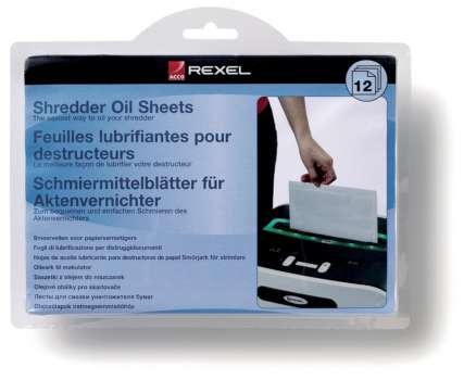 Olejový papír pro skartovačky Rexel - 12 ks