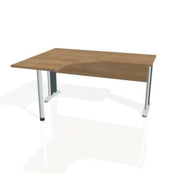 Psací stůl Hobis CROSS CE 60 pravý, višeň/kov
