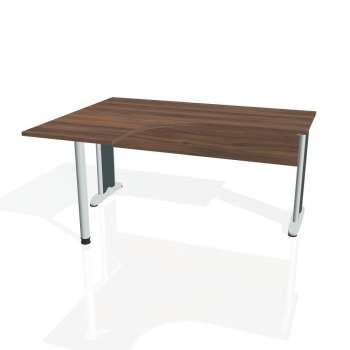 Psací stůl Hobis CROSS CE 60 pravý, ořech/kov