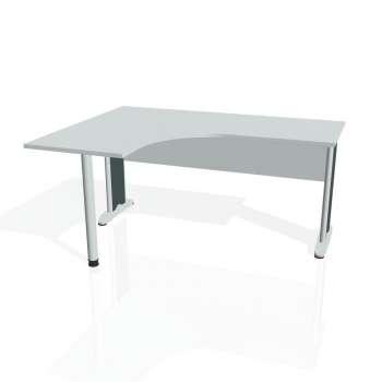 Psací stůl Hobis CROSS CE 60 pravý, šedá/kov