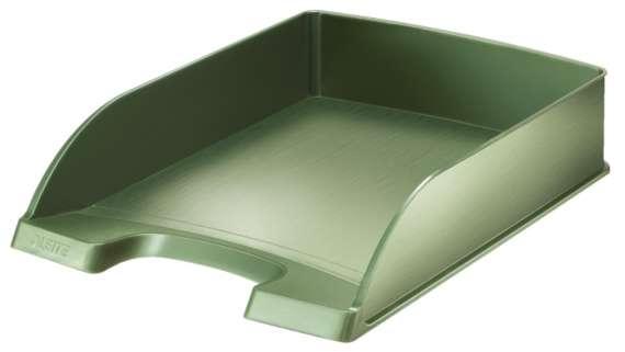 Zásuvka LEITZ STYLE - A4, plastová, zelenkavá