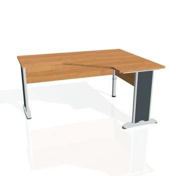 Psací stůl Hobis CROSS CEV 60 levý, olše/kov