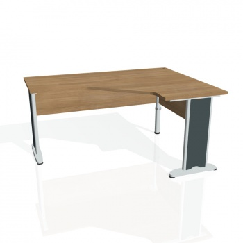 Psací stůl Hobis CROSS CEV 60 levý, višeň/kov