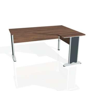 Psací stůl Hobis CROSS CEV 60 levý, ořech/kov
