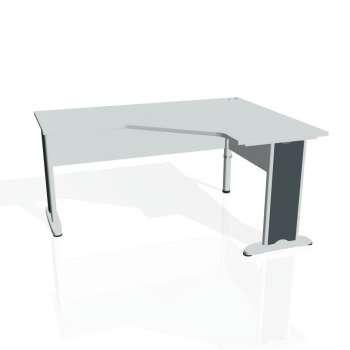 Psací stůl Hobis CROSS CEV 60 levý, šedá/kov