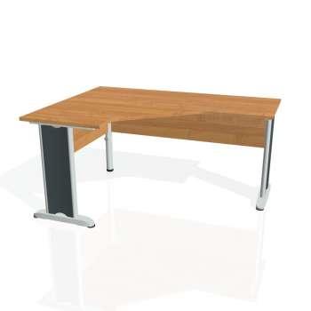 Psací stůl Hobis CROSS CEV 60 pravý, olše/kov
