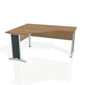 Psací stůl Hobis CROSS CEV 60 pravý, višeň/kov