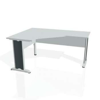 Psací stůl Hobis CROSS CEV 60 pravý, šedá/kov