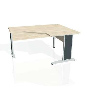 Psací stůl Hobis CROSS CEV 80 levý, akát/kov