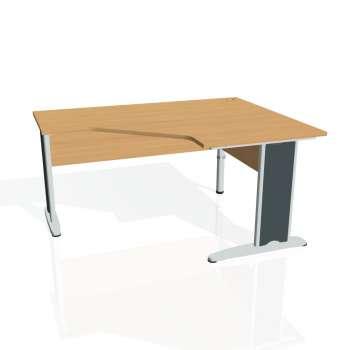 Psací stůl Hobis CROSS CEV 80 levý, buk/kov