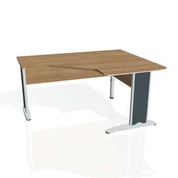 Psací stůl Hobis CROSS CEV 80 levý, višeň/kov