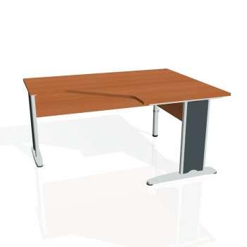 Psací stůl Hobis CROSS CEV 80 levý, třešeň/kov