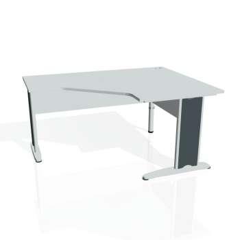 Psací stůl Hobis CROSS CEV 80 levý, šedá/kov