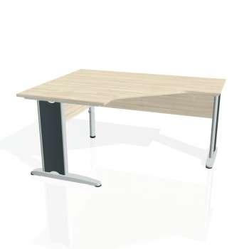 Psací stůl Hobis CROSS CEV 80 pravý, akát/kov