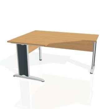 Psací stůl Hobis CROSS CEV 80 pravý, buk/kov