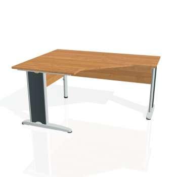 Psací stůl Hobis CROSS CEV 80 pravý, olše/kov