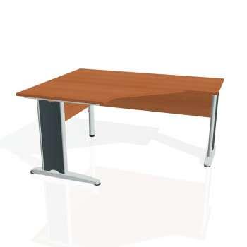Psací stůl Hobis CROSS CEV 80 pravý, třešeň/kov