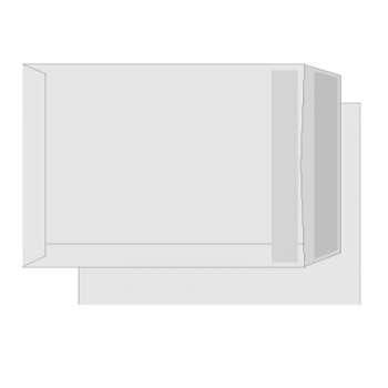 Tašky obchodní B5 - samolepicí s krycí páskou, 50 ks