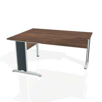Psací stůl Hobis CROSS CEV 80 pravý, ořech/kov