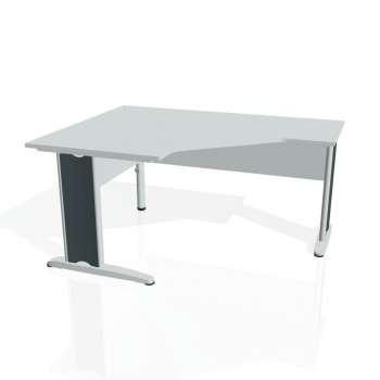 Psací stůl Hobis CROSS CEV 80 pravý, šedá/kov