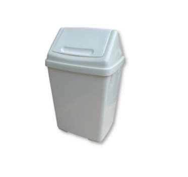 Koš odpadkový výklopný, 15 l, bílý