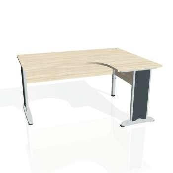 Psací stůl Hobis CROSS CE 2005 levý, akát/kov