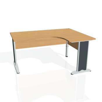 Psací stůl Hobis CROSS CE 2005 levý, buk/kov