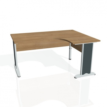 Psací stůl Hobis CROSS CE 2005 levý, višeň/kov