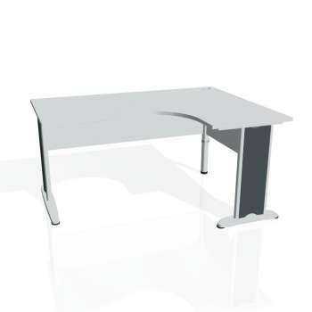 Psací stůl Hobis CROSS CE 2005 levý, šedá/kov
