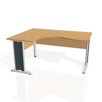 Psací stůl Hobis CROSS CE 2005 pravý, buk/kov