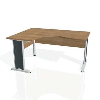 Psací stůl Hobis CROSS CE 2005 pravý, višeň/kov