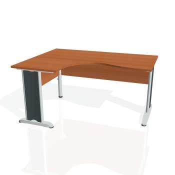 Psací stůl Hobis CROSS CE 2005 pravý, třešeň/kov