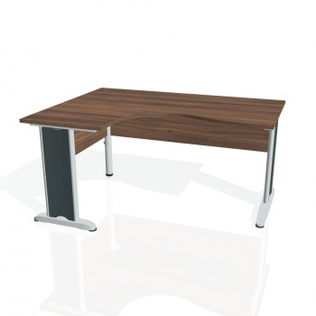 Psací stůl Hobis CROSS CE 2005 pravý, ořech/kov