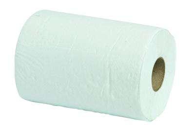 Papírové ručníky Niceday - jednovrstvé, bílé, průměr 13,0 cm, 6 rolí