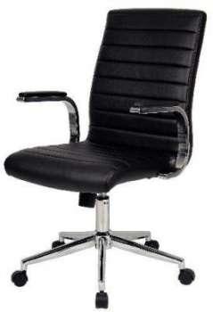 Kancelářské křeslo Realspace Etro - černá, kůže