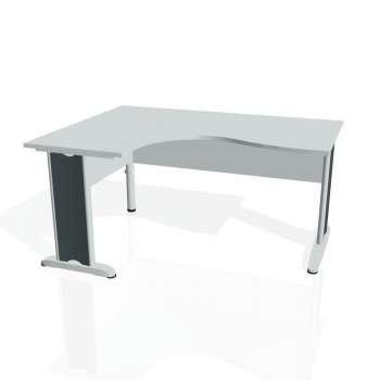 Psací stůl Hobis CROSS CE 2005 pravý, šedá/kov