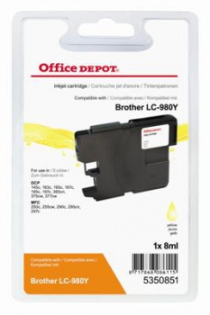 Cartridge Office Depot Brother  LC980Y - žlutá