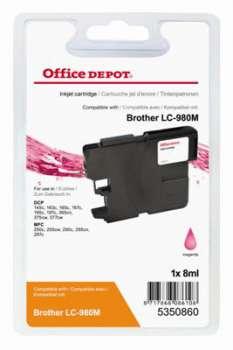 Cartridge Office Depot Brother  LC980M - purpurová