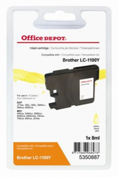 Cartridge Office Depot Brother LC1100Y - žlutá
