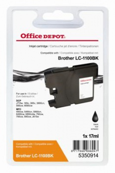 Cartridge Office Depot Brother LC1100BK - černá