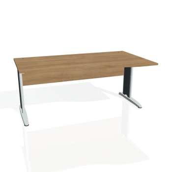 Psací stůl Hobis CROSS CE 1000 levý, višeň/kov