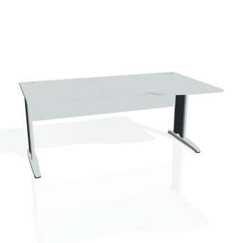 Psací stůl Hobis CROSS CE 1000 levý, šedá/kov