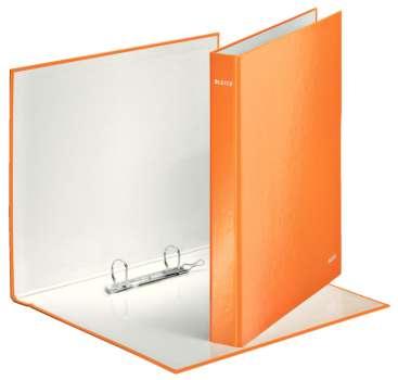 Pořadač dvoukroužkový Leitz WOW 25 mm, oranžový